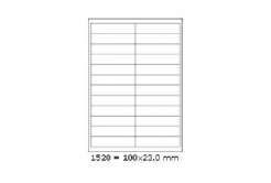 Samolepiace etikety 100 x 23 mm, 24 etikiet, A4, 100 listov