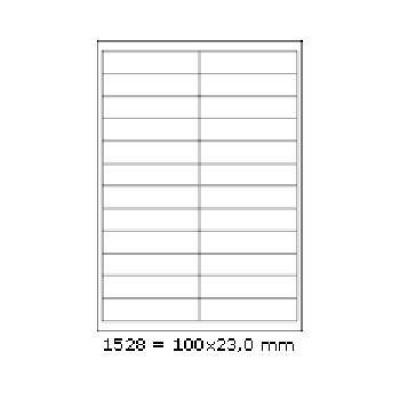 Samolepicí etikety 100 x 23 mm, 24 etiket, A4, 100 listů