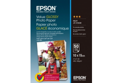 Epson C13S400038 Value Glossy Photo Paper, bílý lesklý foto papír, 10x15cm, 183 g/m2, 50 ks, C13S400038