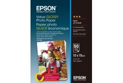 Epson Value Glossy Photo Paper, bílý lesklý foto papír, 10x15cm, 183 g/m2, 50 ks, C13S400038