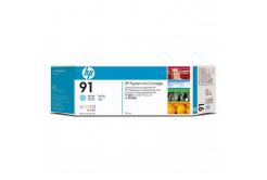 HP 91 C9470A světlé azurová (light cyan) originální cartridge