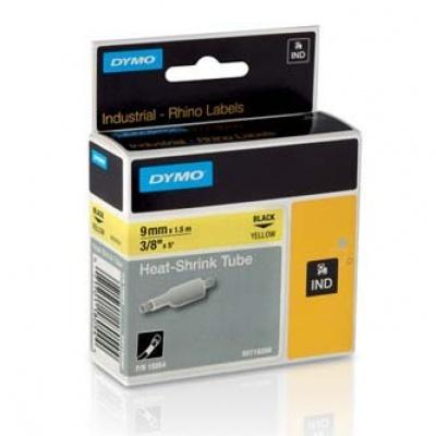 Dymo Rhino 18054, S0718290, 9mm x 1,5m černý tisk / žlutý podklad, originální páska
