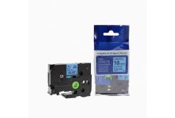 Kompatibilní páska s Brother TZ-541 / TZe-541, 18mm x 8m, černý tisk / modrý podklad