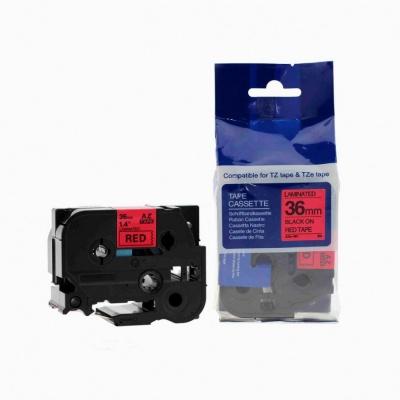 Kompatibilní páska s Brother TZ-461 / TZe-461, 36mm x 8m, černý tisk / červený podklad