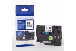 Kompatibilní páska s Brother TZ-FX141 / TZe-FX141, 18mm x 8m, flexi, černý tisk / průhledn