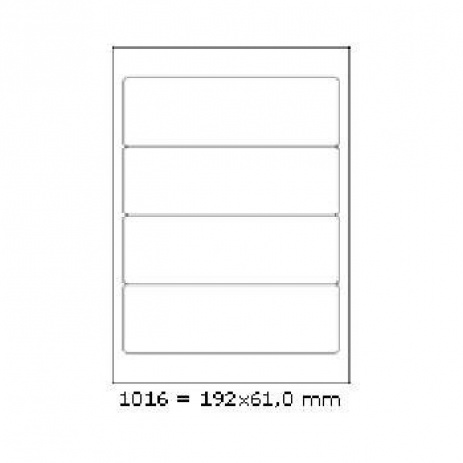 Selfadhesive labels 192 x 61 mm, 4 labels, A4, 100 sheets
