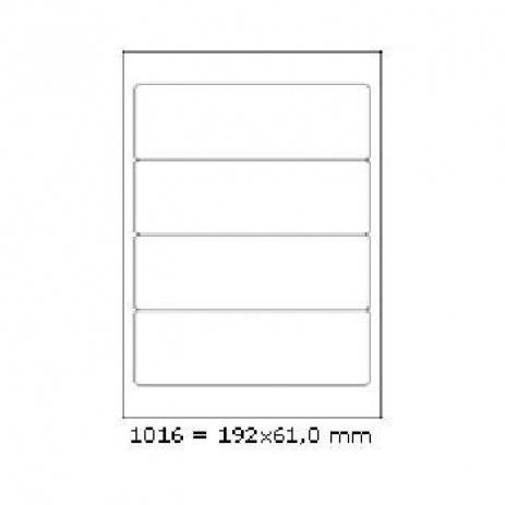 Etichete autoadezive 192 x 61 mm, 4 de etichete, A4, 100 coli
