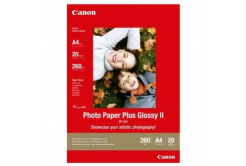 Canon Photo Paper Plus Glossy, foto papír, lesklý, bílý, A4, 260,275 g/m2, 20 ks, PP-201 A4, in