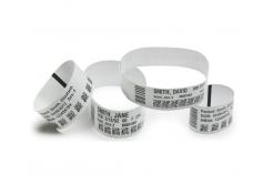 Zebra 10003853 Z-Band Direct, baby, náramkové pásky, bílá
