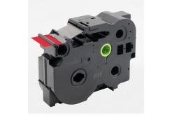 Kompatibilní páska s Brother TZ-FX461 / TZe-FX461, 36mm x 8m, flexi, černý tisk / červený
