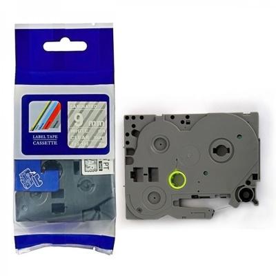 Kompatibilní páska s Brother TZ-125 / TZe-125, 9mm x 8m, bílý tisk / průhledný podklad