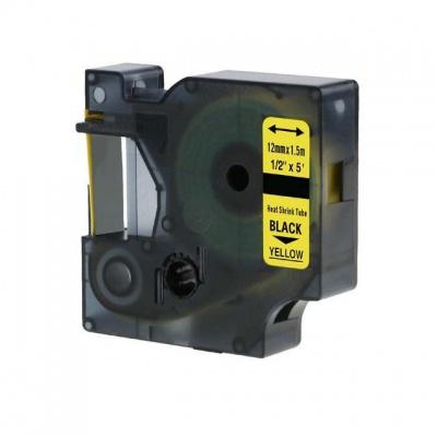 Kompatibilní páska s Dymo 18056, S0718310, 12mm x 1, 5m černý tisk / žlutý podklad