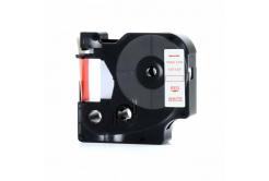 Kompatibilní páska s Dymo 45015, S0720550, 12mm x 7m červený tisk / bílý podklad