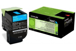 Lexmark 70C20C0 błękitny (cyan) toner oryginalny