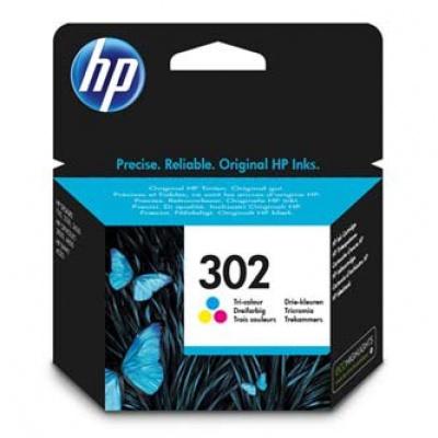 HP 302 F6U65AE barevná (color) originální cartridge