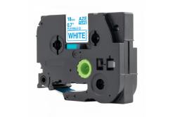 Kompatibilní páska s Brother TZ-FX243 / TZe-FX243, 18mm x 8m, flexi, modrý tisk / bílý pod