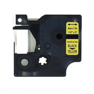 Kompatibilní páska s Dymo 18052, S0718270, 6mm x 1, 5m černý tisk / žlutý podklad