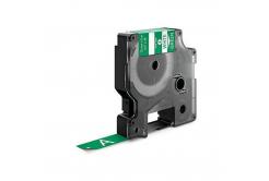 Kompatibilní páska s Dymo 1805414, 12mm x 5, 5m bílý tisk / zelený podklad, vinyl