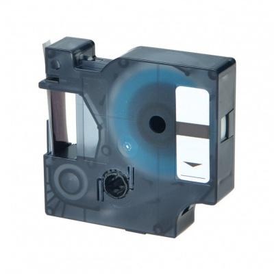 Kompatibilní páska s Dymo 18438, 12mm x 5, 5m černý tisk / červený podklad, vinyl