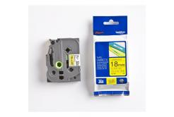 Brother TZ-FX641 / TZe-FX641, 18mm x 8m, černý tisk/žlutý podklad, originální páska