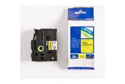 Brother TZ-661 / TZe-661, 36mm x 8m, černý tisk / žlutý podklad, originální páska