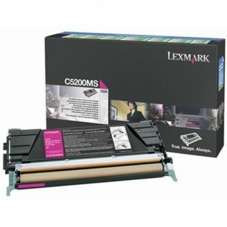 Lexmark C5200MS purpurový (magenta) originálny toner
