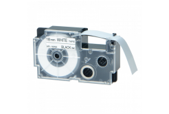 Kompatibilní páska s Casio XR-18WE1, 18mm x 8m černý tisk / bílý podklad