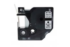 Kompatibilní páska s Dymo 43613, S0720780, 6mm x 7m, černý tisk / bílý podklad