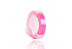 Dymo Omega, 9mm x 3m, bílý tisk / fluorescenční růžový podklad, kompatibilní páska