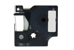 Kompatibilní páska s Dymo 18485, Rhino, 9mm x 5,5m černý tisk / metalický podklad, polyester