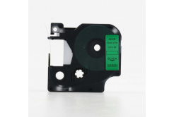 Kompatibilní páska s Dymo 45019, S0720590, 12mm x 7m černý tisk / zelený podklad