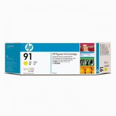 HP 91 C9469A yellow original ink cartridge