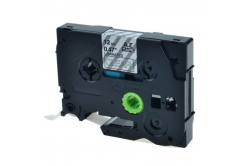 Kompatibilní páska s Brother TZ-135 / TZe-135, 12mm x 8m, bílý tisk / průhledný podklad