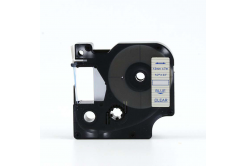 Kompatibilní páska s Dymo 45011, S0720510, 12mm x 7m modrý tisk / průhledný podklad