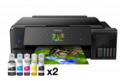 Epson tiskárna ink EcoTank L7180, 3v1, A3, 28ppm, USB, Ethernet, Wi-Fi (Direct),  LCD, Foto tisk., 3 roky záruka po reg.
