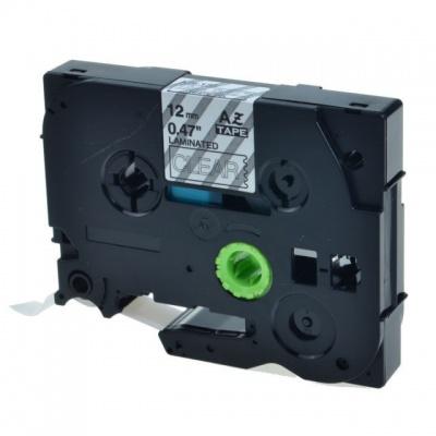 Kompatibilní páska s Brother TZ-S135 / TZe-S135, 12mm x 8m, extr.adh. bílý tisk / průhledn