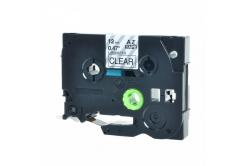 Kompatibilní páska s Brother TZ-131 / TZe-131, 12mm x 8m, černý tisk / průhledný podklad