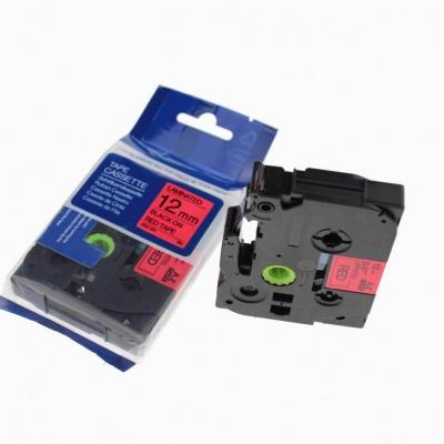 Kompatibilní páska s Brother TZ-431 / TZe-431, 12mm x 8m, černý tisk / červený podklad