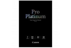 Canon 2768B016 Photo Paper Pro Platinum, foto papír, lesklý, bílý, A4, 300 g/m2, 20 ks, PT-101 A4, inkou