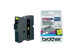 Brother TX-651, 24mm x 15m, czarny druk / żółty podkład, taśma oryginalna