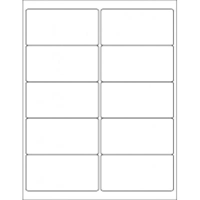 Samolepicí etikety 105 x 57 mm, 10 etiket, A4, 100 listů