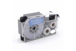 Kompatibilní páska s Casio XR-18ABU 18mm x 8m bílý tisk / modrý podklad