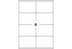 Samolepicí etikety 105 x 74 mm, 8 etiket, A4, 100 listů
