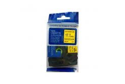 Kompatibilní páska s Brother HSe-641, 17,7mm x 1,5m, černý tisk / žlutý podklad