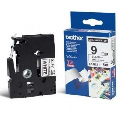Brother TZ-N221, 9mm x 8m, černý tisk/bílý podklad, originální páska