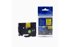 Kompatibilní páska s Brother TZ-621 / TZe-621, 9mm x 8m, černý tisk / žlutý podklad