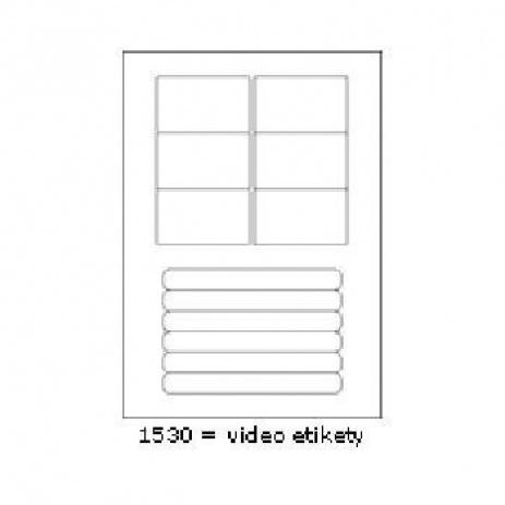 Öntapadós címkék 76 x 45,5 mm, 12 db / A4, A4, 100 lap