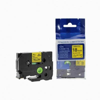 Kompatibilní páska s Brother TZ-641 / TZe-641, 18mm x 8m, černý tisk / žlutý podklad