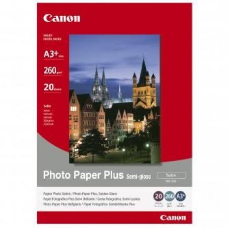 Canon Photo Paper Plus Semi-Glossy, foto papír, pololesklý, saténový, bílý, A3+, 260 g/m2, 20