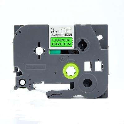Kompatibilní páska s Brother TZ-D51/TZe-D51, signální 24mm x 8m, černý tisk/zelený podklad